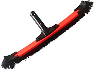 """Pool Brush 19"""" with Removable Curved Sides,Deluxe Floor&Wall Brush for Pool and Spa Cleaning"""