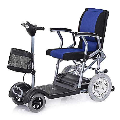 Wlylyh Leichter Elektrischer Rollstuhl Ältere Einzelne Untaugliche Vierrädrige Nicht Für Den Straßenverkehr Roller-Elektroauto Der Alten Energie