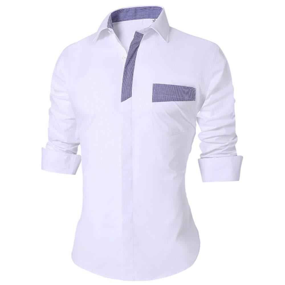 YAYLMKNA Camisa Hombres De La Camisa De Los Hombres Delgados del Verano De Manga Larga Tamaño Transpirable Oficina Vestido Camisas Hombres, 4XL: Amazon.es: Deportes y aire libre