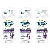 Tom's of Maine Long-Lasting Aluminum-Free Natural Deodorant for Women, Wild Lavender, 2.25 oz. 3-Pack
