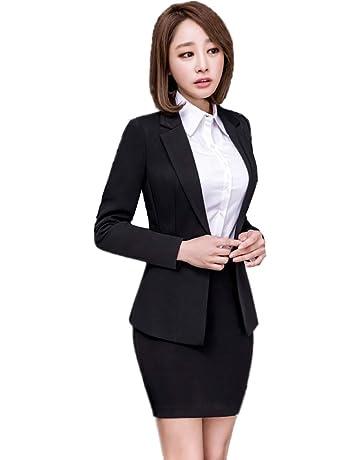 878a60ddf7d6a Yijinxiu フォーマルスーツ レディース 黒 スカートスーツ おしゃれ 結婚式 卒業式 スーツ 母 大きいサイズ
