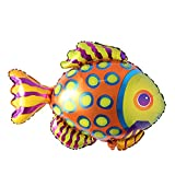 Large Fish Balloons, Foil Shark Lobster Octopus Balloon Sea World Horse Star Birthday Party Decorations Kid Inflatable Toys Wedding Decor (Tropical Fish)