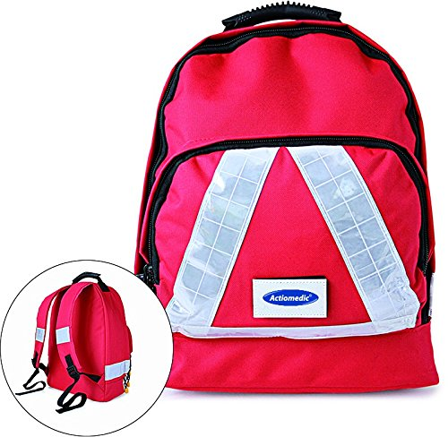 *Notfallrucksack SMALL Rot Nylon 300 x 200 x 180mm mit Inhalt DIN 13157*