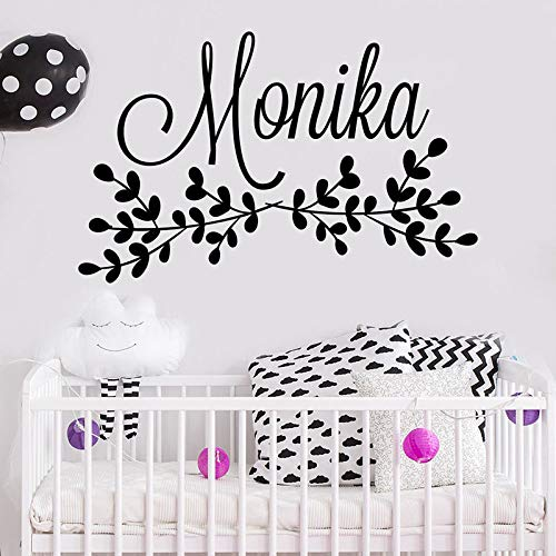 yuandp Plakfolie van kunstvinyl voor de kinderkamer, gepersonaliseerde naam, sticker, kinderdagverblijf slaapkamer, decoratie, poster 42 x 66 cm