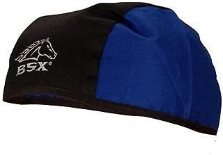 Black Stallion BSX BC5B-BLU Black/Blue Cotton Beanie