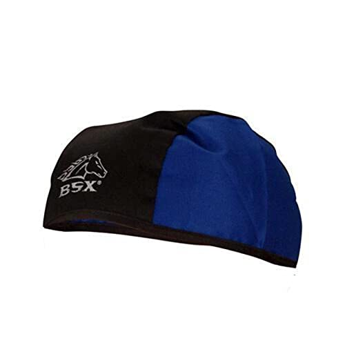 cd0deff994e Black Stallion BSX BC5B-BLU Black Blue Cotton Beanie