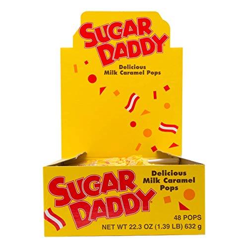 Sugar Daddies Milk Caramel Pops 48Count of 047 Oz Pops