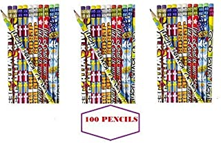 (100) RELIGIOUS PENCILS ~ Easter Basket Fillers ~ Egg Hunt Prize ~ Christmas Stocking Stuffers ~ Party Favors ~ Teacher Incentive Gifts ~ Sunday Bible School Church Fairs ~Church Camps ~ 7.5'' New