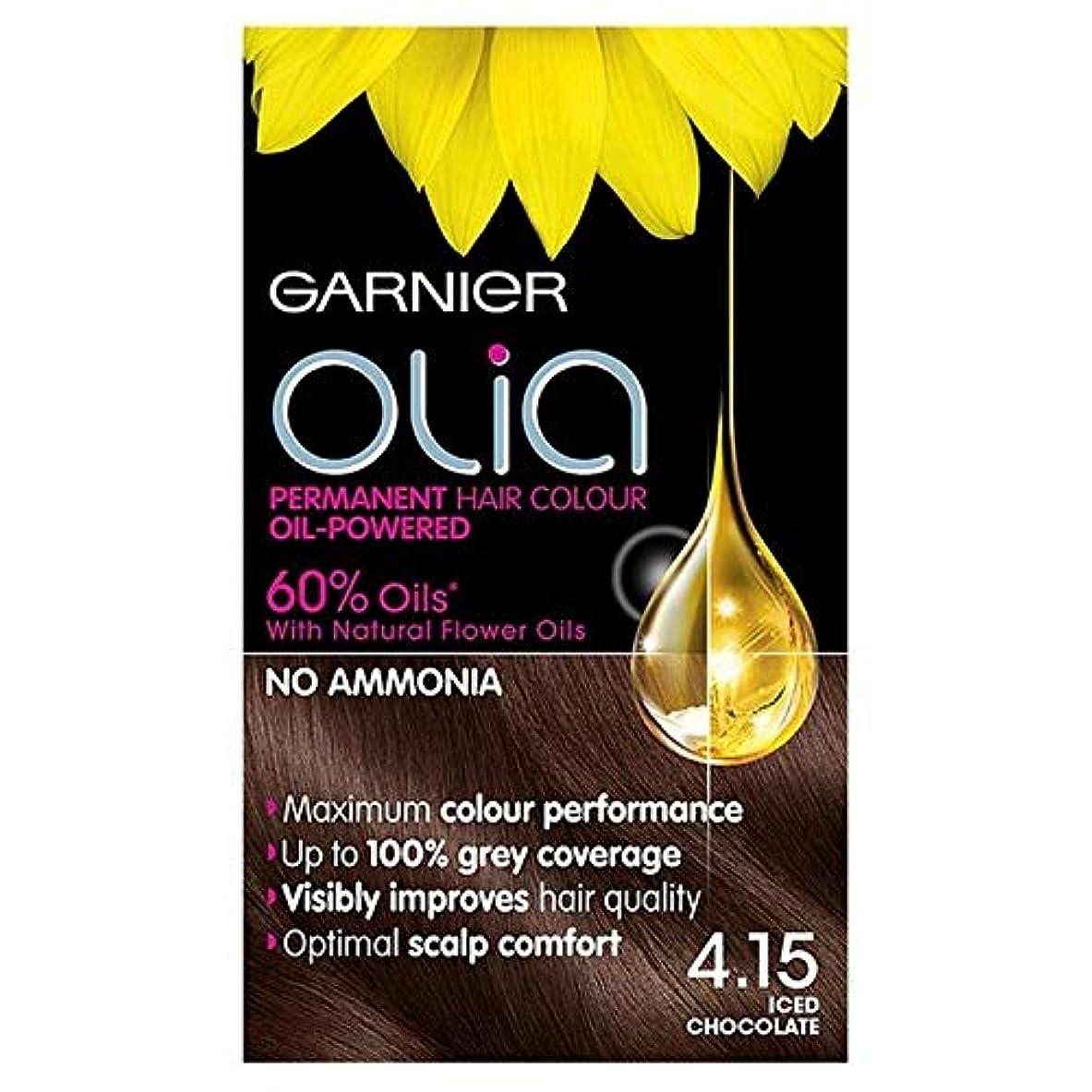 アートほうきセンチメンタル[Garnier ] ガルニエOlia 4.15アイスチョコレートブラウンパーマネントヘアダイ - Garnier Olia 4.15 Iced Chocolate Brown Permanent Hair Dye [並行輸入品]