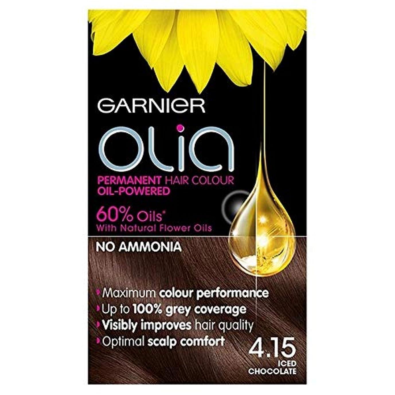 広まったインサート隣接する[Garnier ] ガルニエOlia 4.15アイスチョコレートブラウンパーマネントヘアダイ - Garnier Olia 4.15 Iced Chocolate Brown Permanent Hair Dye [並行輸入品]