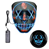 Halloween LED Mask for Adults and Kids Scary Light up Mask for Halloween Festival Party
