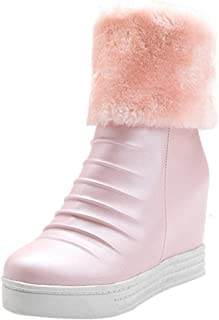FANIMILA Women Fashion Short Boots Wedge Heels Snow Boots
