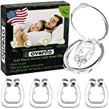 Ovanto Anti Snoring Solution Device - 4 Magnetic Reusable Anti Snore Stoppers That Helps to Stop Snoring Naturally - Comfortable & Effective Snoring Nose Clip for a Peaceful Night Sleep