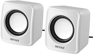 BUFFALO PC用スピーカー USB電源コンパクトサイズ ホワイト BSSP105UWH