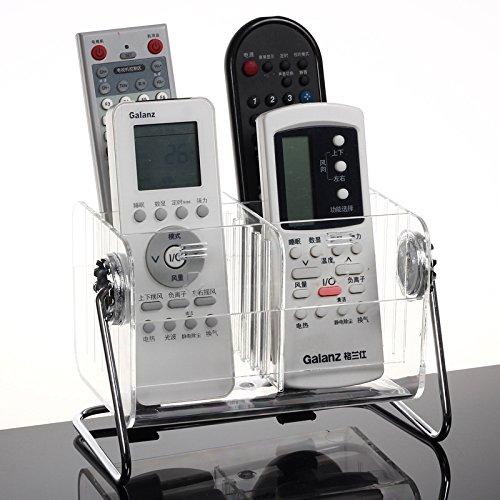 Soporte de control remoto de escritorio, caja de acrílico transparente con control remoto, soporte de TV para oficina en casa