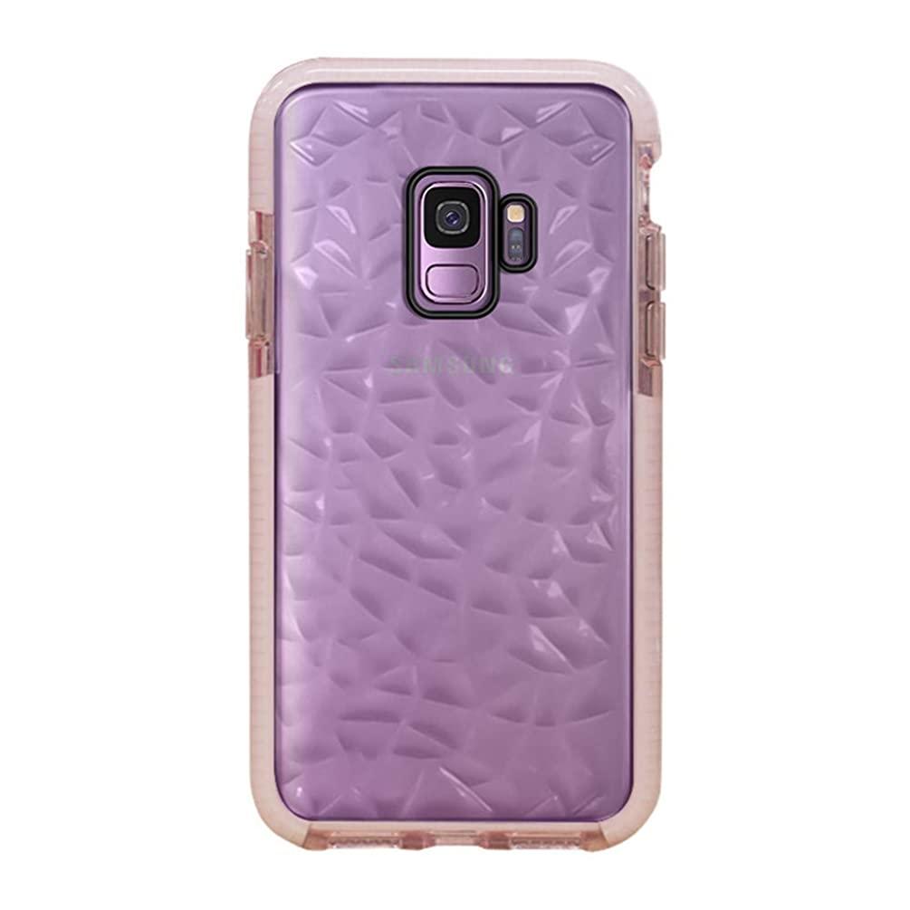 Galaxy S9 Case,Ultra Hybrid Clear Case with Air Cushion Technoloegy Drop Protection,Soft Silicone Rubber Bumper Full Protective Cases Cover for Samsung Galaxy S9 - Pink