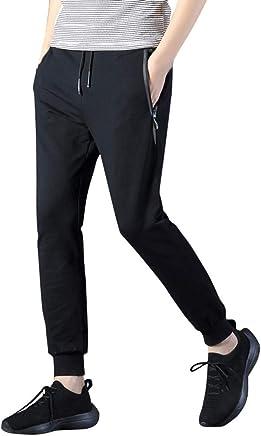d481a16348e8fe Caopixx Mens Zip Joggers Pants Casual Gym Workout Track Pants Comfortable  Slim Fit Tapered Sweatpants