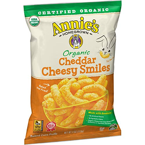 Annie's Organic Cheddar Cheesy Baked Corn Puffs, 4 Oz