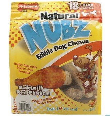 Natural Nubz Edible Dental Dog Chews Treats Made in Usa, No Preservatives