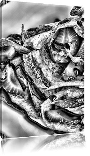 Pannenkoeken met aardbeienFoto Canvas | Maat: 100x70 cm | Wanddecoraties | Kunstdruk | Volledig gemonteerd