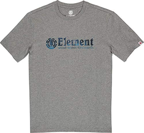 Element Boro SS T-Shirts, Chemises et Polos Homme, Grey Heather, FR : M (Taille Fabricant : M)