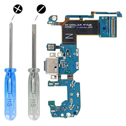 MMOBIEL Connettore Dock Compatibile con Samsung Galaxy S8 Plus Porta per caricare USB C Cavo Flessibile incl cacciaviti