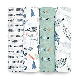 8. aden + anais Essentials Swaddle Blankets (4 pack)