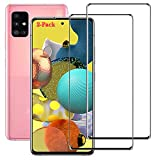 Znoble for Samsung Galaxy A51 5G Screen Protector, Full Coverage Premium Clarity For Galaxy A51 5G/ Galaxy A51/Galaxy A51 5G UW Tempered Glass Screen Protector [Case Friendly] [Ultra Clear] [2 Pack]