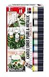 Marabu Christmas Spirits-Velas (10 Unidades, 25 ml, Base de Agua, luz, Olor Neutro, Resistente a la Intemperie, decoración Muy fácil), multicolor, 10 x 25 ml, 250