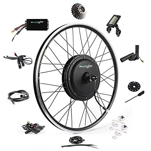 Ebike Conversion Kit 48V 1200W 26' Direct Drive Waterproof Electric Bike Conversion Kit - Ebike Kit - Hub Motor Kit S830 LCD Display (Rear/LCD/Thumb)