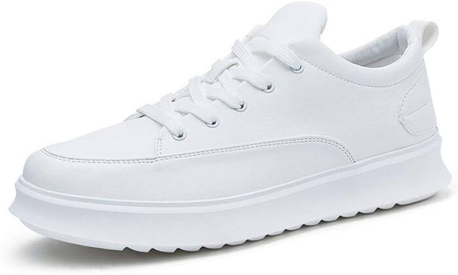 Y-H Men's shoes, Flat Deck shoes, Spring Fall Sneakers Casual shoes, Walking Gym shoes, Student Slip-Ons Running shoes (color   White, Size   41)