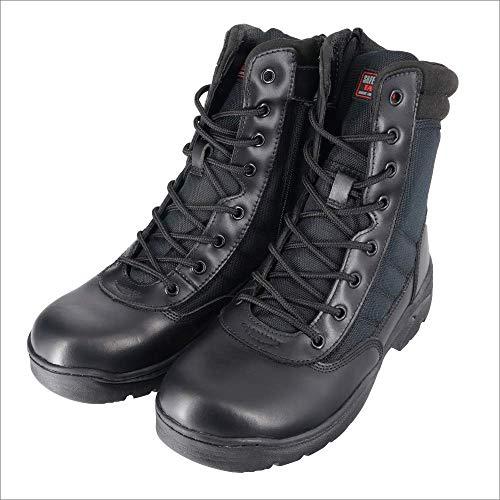 Stivaletti tattici leggeri senza metallo nero con zip laterale High Cut SRA, Safety Jogger Tactic – 10 UK