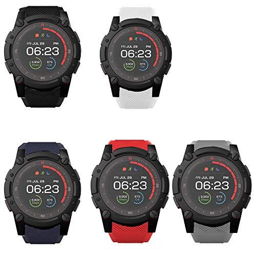 LvBu Armband Kompatibel Für PowerWatch 2, Sport Silikon Classic Ersatz Uhrenarmband Für Matrix PowerWatch 2 Smartwatch (5 Pack)