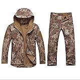 Hombre del Invierno Impermeable de la Pesca Pantalón táctico Softshell Caza Chaquetas al Aire Libre Militar del ejército Traje de Pantalones 10 M