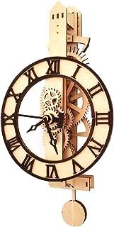 WOPACR DIY Wooden Mechanical Pendulum Clock Model Educational Model Handcrafted