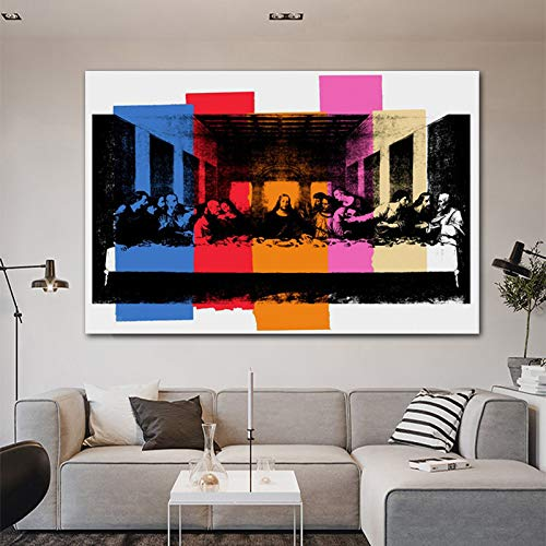 ganlanshu Rahmenloses Gemälde Letztes Abendessen auf Leinwand gemaltCGQ8468 30X45cm