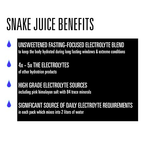 51wbZqkJ+KL. SS500  - SNAKE Juice Keto Diet Electrolyte Powder, Unflavored, Fasting-Focused Supplement Beverage Mix, 30 Easy-Open Packets