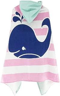 Children Beach Hoodie Towel Cloak Super Soft Absorbent Bathrobe Wearable Blanket (B)