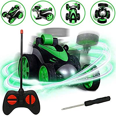 RC Cars, LGUIY Kids Toys Remote Control Car Stunt Car Vehicle High Speed 360 Degree Rotation Flip Racing Car Upright Driving Christmas Birthday Gifts Gadgets Toys for Boys Girls (Green) by LGUIY