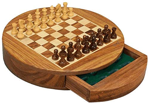 Chess set Game travel adults kids board Chess Classic Chess Set by Wooden with Folding Wooden Chessboard,Pieces and Storage Slots,International Chess Set for Kids Adults Portable