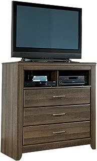 Ashley Furniture Signature Design - Juararo Media Chest - 3 Drawers - Vintage Casual - Dark Brown
