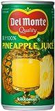 デルモンテパイナップルジュース缶(ストレート果汁100%) 190G 1缶
