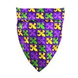 Mardi Gras Dog Bandana New Orleans Carnival Fleur De Lis Purple Pet Puppy Collar Scarf