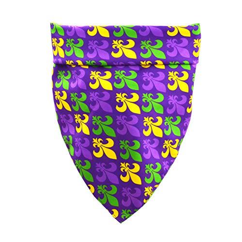 Mardi Gras Dog Bandana New Orleans Carnival Fleur De Lis Purple Pet Puppy Collar Scarf
