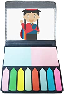 Red Blue Ecuador Cartoon Self Stick Note Color Page Marker Box