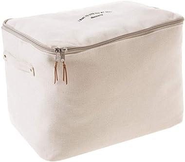 storage box Foldable Canvas Zipper Storage Bag/Shelf Clothes