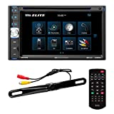 BOSS Audio Systems Elite BV765BLC Car DVD Player with Rearview Backup Camera - Double Din, Bluetooth Audio and Calling, 6.5 Inch LCD Touchscreen, MP3, CD, DVD, USB, SD, Aux Input, AM/FM Radio Receiver