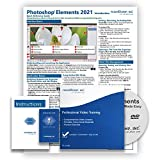 Learn Adobe Photoshop Elements 2021 DELUXE Training Tutorial Course- DVD-ROM, Online Access, Manual, Exam, Certificate of Completion and Quick Reference Guide