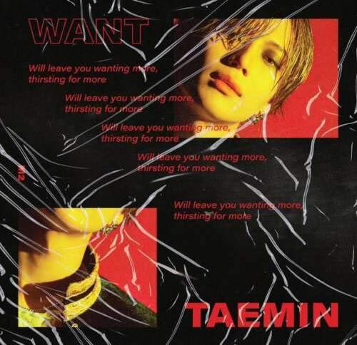 Shinee Taemin - [Want] 2nd Mini Album Random Ver CD+Booklet+PhotoCard+1p Paper Stand+Tracking K-POP Sealed