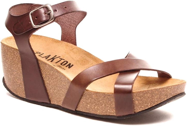 PLAKTON Damen Sandalen, Braun - Braun - Größe Größe Größe  41 EU  b1037a